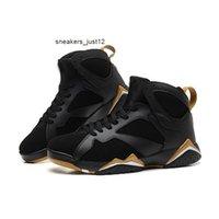 Moments classiques 7 gs doré Mens Basketball 7s Baskets de sport en or blanc métallisé noir 7S Baskets 304775-030