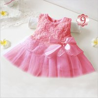 New Summer Baby Girls Princess Dress Tulle Tutu Sleeveless Bow Children Kids Party Dresses for Baby Gift 0-2Years