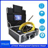 أنابيب IP68 ماء بوريسكوب 720P HD 17MM عدسة الصرف الصحي خط أنابيب استنزاف مع 6 الصمام كاميرات IP