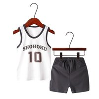 Clothing Sets Boys Clothes Set Summer 2021 Casual Boy Anime Costume Beach Kids Vest + Short Pants Outfit Children 3 5 6 7 8 Years