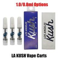 La Kush Vape Kartuş Atomizers Ambalaj 0.8ml 1.0 ml Seramik Arabaları Los Angeles Kalın Yağ Kartuşları DAB Kalem 510 için DAB Pil