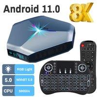 Transpeed Android11 Amlogic S905X4 TV BOX A95X F4 RGB Light TV Box Dual Wifi 8K 4K 3D Youtube Media Player Set top box