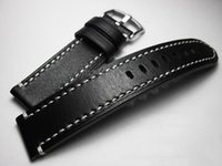 Watch Bands 18 19 20 21 22mm High-end Thick Section Genuine Leather Black Belt Handmade Cozy Strap Band Cowhide Men's Watchbands