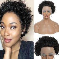 Wig Human Hair Black Short 13 * 1 Curl Mechanism Set Batch GVLV