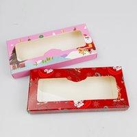 Newest Christmas Eyelashes Packaging Box Wholesale Empty Rectangle Lashes Case 3D 5D 6D 8D 25mm-27mm Mink Eyelash Vendor