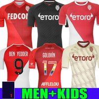 2021 2022 Como Monaco Soccer Jerseys Especial Volland Jovetic Maillots De Foot Collector 21 21 B.Badiasshile Ben Yedder Gelson Fabreags Golovin Men Kids Football Shirts