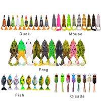 Elica da pesca pesca tremante anatra mouse rana cicala pesca esche da pesca 10 cm 13.5g hard artificial bionic swimbait crankbait richiamo tackle