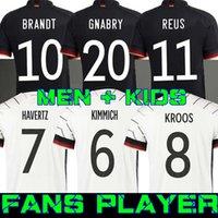 Oyuncu Sürümü 2021 Almanya Futbol Formaları Tah Gundogan Hummels Gnabry Werner Kroos 20 21 Kimmich Maillot De Foot Futbol Reus Brandt