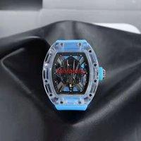 2021 남자를위한 새로운 도착 시계 스포츠 손목 시계 투명 다이얼 쿼츠 시계 실리콘 스트랩 12