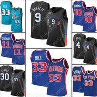 Mens RJ 9 Barrett Julius 30 Randle Derrick Jersey 4 Rose Patrick 33 Ewing Retro 21 Basketbol Isiah 11 Thomas Dennis 10 Rodman Grant