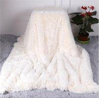 Doppelgesichtige Faux-Pelz-Decke weiche flaumige Sherpa-Wurfdecken für Betten abdecken Shaggy-Bettkapier-Plaid Fourrel-COBERTOR MANTAS 368 R2
