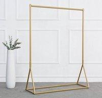 Commercial Furniture Golden clothing rack Iron floor hanger children's cloth shop display racks women's