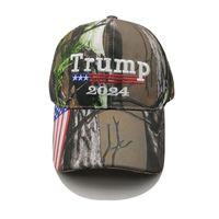 Camouflage Trump 2024 Ballon Ballon Capsball Casquettes US Prapeau Maga Sun Visor Party Hats ZZA3303