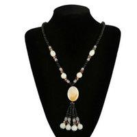 Зимой, Jiasha Natural Agate камень длинное ожерелье ювелирные изделия оптом цепь свитера