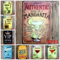 Signe en métal Peinture de fer Cocktail Tableaux de bière Vintage Craft Accueil Restaurant Decoration Pub Signes Sticker Art Sticker HWe9436