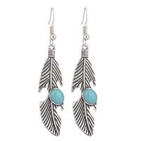 Fashion Boho Long Drop Earrings For Women Jewelry Feather Ethnic Vintage Earrings Power Bohemian Earrings