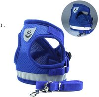 Waistcoat Model Dog Harness Leashes Set Breathable Mesh Strap Vest Collar Rope Pet Dogs Supplies HHA6246