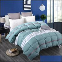Comforters Supplies Textiles Home Gardencomforters & Sets Winter Thick Warm Quilts Bedding Comforter Adts Bedroom Printed Patchwork Soft Com