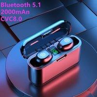 F9-13 V5.1 이중 귀 TWS 쌍둥이 블루투스 무선 이어폰 충전기 도크 방수 이어폰 스마트 폰용 스테레오 게임 헤드폰