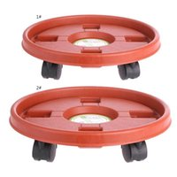 Planters & Pots Plastic Plant Flower Pot Bottom Stand Trolley Portable Planter Tray With Wheels S03 21 Drop