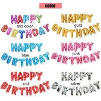 Party Decoration 16inch 13Pcs Set Polka dot party balloons Alphabet Letters Happy Birthday Aluminum Foil Membrane Balloon HHE341 5PLX
