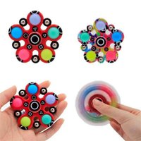 Squid game related toys fidget fingertip spinners sensory bubble popper board game push popping decompression finger spinner anti anxiety stress relief G05WA8T