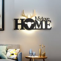 Nordic English Letter Lamps home Living Room Restaurant Background Decoration wall Lamp Modern Simple Bedroom LED Wall Light Bedside Aisle Staircase Indoor Lights