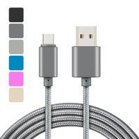 Metallgehäuse Geflochtene Micro USB-Kabel 2A Dauerhafter Hochgeschwindigkeits-Ladeart C-Kabel mit 10000 Bend-Lebensdauer für Android-Smartphone