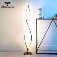 Modern LED Floor Lamp Bedroom Standing For Living Room Lamps Office Wood Flooring Lighting Fixtures Tall
