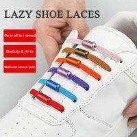 لا التعادل أربطة الحذاء الملونة جولة معدنية مطاطا الأحذية أقواس حذاء كسول إكسسوارات الأحذية الإبداعية للجنسين التعادل السريع أو خارج شاحنة سهلة Y0928