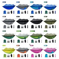 Mosquito Net Hammock 16 Colors 260*140cm Outdoor Parachute Cloth Field Camping Tent Garden Camping Swing Hanging Bed NHD6570