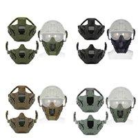 Half Face Mask WoSpor Tactical Iron Warrior Masks (halfs faces) module solid color