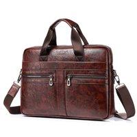New Men's Hand Large Capacity Single Shoulder Messenger Leisure Briefcase Laptop Bag for Men