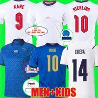2021 Final Soccer Jerseys 21 22 Chiesa Bonucci Chiellini Jorginho Foden Kane Grealish Sterling كرة القدم قميص جبل شو لعبة مباراة التفاصيل مايوه