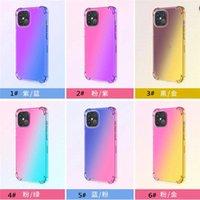 Degrade Renkler TPU Yumuşak Anti Şok Geri Kapak Temizle Telefon Kılıfı Için iPhone 6 7 8 Artı X XR 11 12 Pro Max