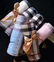 Frühling Sommer Baumwollschal Klassische Schals Marke Design Herren Damen Weiche Warme karierte Rasendecker Wrap Fashion Tuch 180x70cm