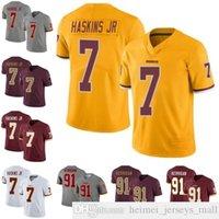 # 7 Dwayne Haskins JR 91 Райан Керриган Мужчины Женщины Молодежный футбол Джерси