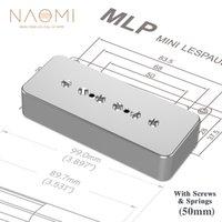 NAOMI P90 Single Coil Electric Guitar Pickup SOAP BAR Pickup Hals 50mm W / Silber Metallabdeckung 6 Einstellbare Schrauben Pole Stücke
