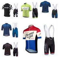 Hombre Morvelo Team Cycling Jersey Conjuntos de manga corta transpirable MTB Camisa de bicicleta 3D Gel Pad Babero Pantalones cortos de montaña Ropa de bicicleta H070106