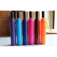 Parapluies créatifs de bouteille créative parapluie multifonction double usage argent colloïde mode plastique bouteilles de vin de soleil transporter pratique 9jn y ltkb