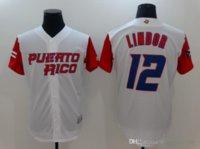 2021 Maillots de baseball Porto Rico Monde Jersey classique 9 Javier Baez 21 Roberto Clemente 1 Carlos Correa 4 Yadier Molina 15 Carlos Beltr Hommes