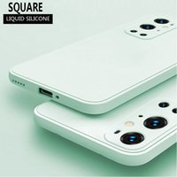 Original Square Soft Liquid Silicone Case For Oneplus 9 Pro Camdy Color Cover For Oneplus 9R 1+9 8T 8 1+8T 7 1+7T 6 1+6T mobile phone shell