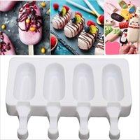 Силиконовый DIY морозильный камера Easy Cream Mini мороженое с мороженым набор формы для формы для создания инструментов сок сок Prysicble Bloens детей POP LOLLY TRAY ICE CUBE MAKER 340 R2