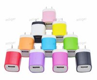 5V 1A Travel Power Adapter Home Wall Charger Charging Plug for iPhone Samsung Huawei Moto Nokia Universal Charge Chargers No Package