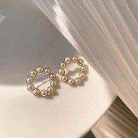 Stud Retro Earring Women Elegant Woman Earrings Minimalist Ladies Fashion Jewelry Lady Korean Girl Party Trendy Metal Kolczyki