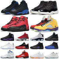 11s mens 농구 신발 Jubilee 12s Dark Concord Reverse Flu Game 13s Hyper Royal Red Flint womens trainers sports sneakers