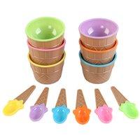 1 satz Eisschale Löffel Kunststoff Farbe Flauschiger Schleim Clay Klar Container Kleber Put Ball Aufbewahrungsboxen DIY Kinder Kit Zubehör Q0313