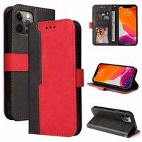 2021 Hybridfarbe Brieftasche Leder Hüllen für iPhone 13 12 PRO MAX MINI 11 XR XS 8 7 6 SE2 Mode Kontrast Kredit ID Karten Schlitzhalter Ständer Abdeckung Magnetische Geldbeutel Strap Lanyard