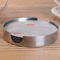ニューホームキッチンテーブル雑貨ラウンドステンレス鋼の耐熱性のないスリップコーヒーカッププレースマット卸売