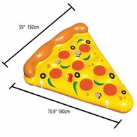 Infflatable Pizza Mattress Swimming Pool floating giant swim tubes air water Bed Raft Pvc floats Pizzas Lounger wholesale